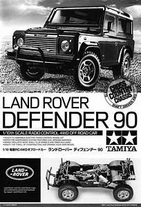 Assembly Manual Of Tamiya 58657 Land Rover Defender 90  Cc