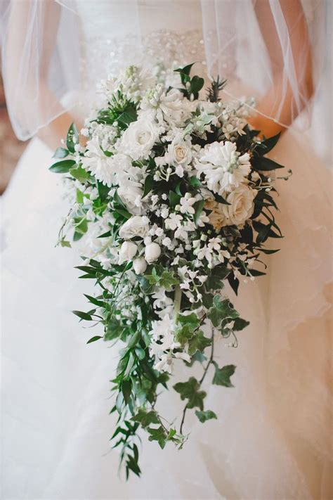 Cascading Bouquet Pictured Bouvardia Lilly Of The