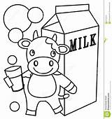 Milk Coloring Dairy Illustration Drawn sketch template