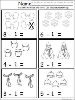 winter math subtract one teacher ideas math