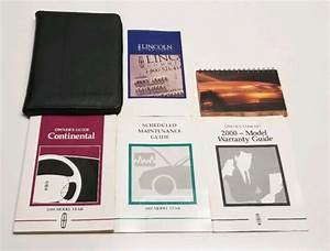 2000 Lincoln Continental Owners Manual User Guide V8 4 6l
