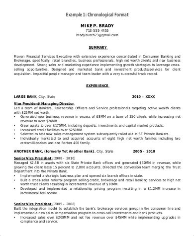 Chronological Resume Format Pdf by Format For Resume Sle 9 Exles In Word Pdf
