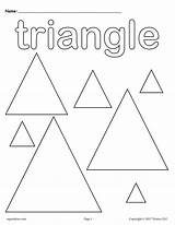 Shapes Coloring Pages Triangles Triangle Shape Preschool Worksheets Printable Toddlers Kindergarten Worksheet Preschoolers Toddler Circles Learning Sheets Supplyme Colouring Tracing sketch template