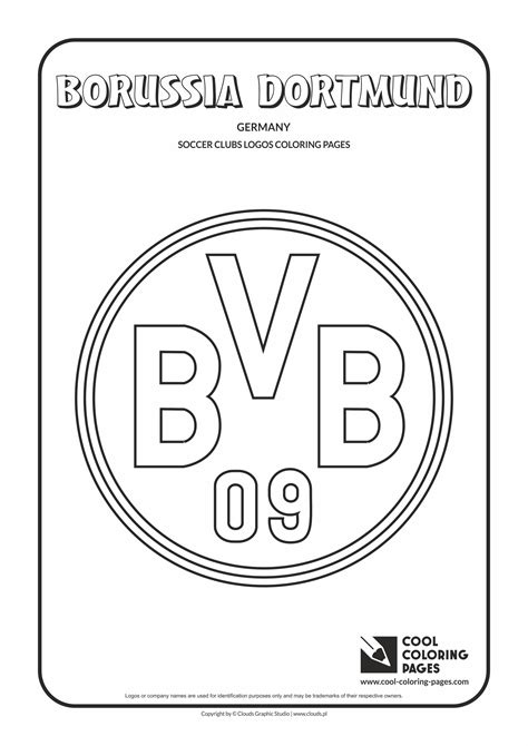cool coloring pages borussia dortmund logo coloring page