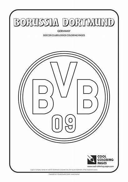 Coloring Dortmund Pages Borussia Cool Soccer Logos