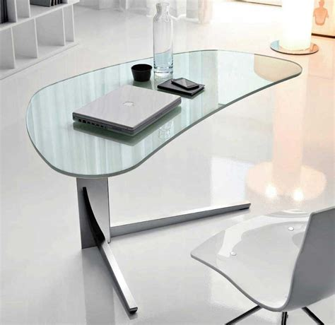 table bureau verre modern desks for home office with unique desk with glass