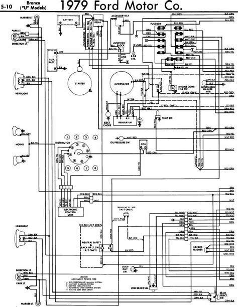 Ford Bronco Wiring by Electrical Wiring Diagram Of 1979 Ford Bronco U Models