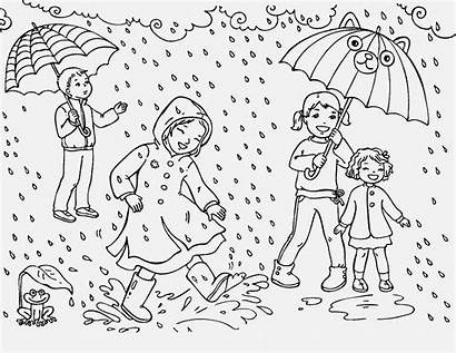 Rain Coloring Pages Fun