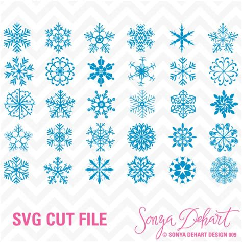 I wanted to put together a cute snowflake card. Snowflakes SVG Cuttables