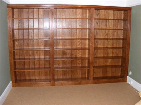"""Fitted Oak Bookcase  """"james Curley Furniture And Joinery"""