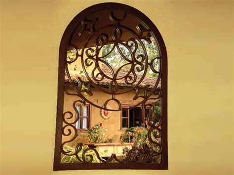 Wrought Iron Wall Mirrors Decorative Pleasing Wall Mirrors