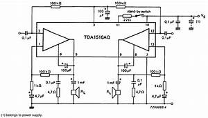 Schematic Diagram  24 W Btl Or 2 X 12 W Stereo Car Radio