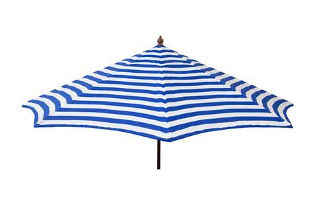 destinationgear 9 ft patio umbrella blue and white stripe