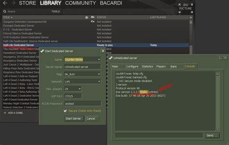 set   steam dedicated server  hlds update tool