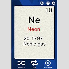 Periodic Elements Flash Cards  Android Apps On Google Play
