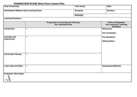 eyfs lesson plan template  noaddedsugar uk teaching