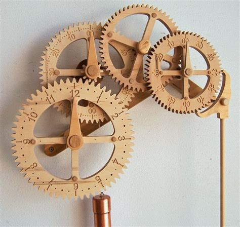 wooden gear clock plans  woodworking