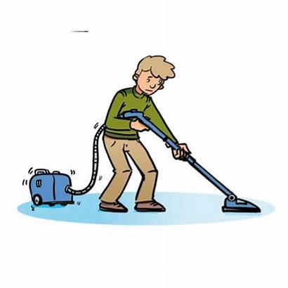 Clipart Vacuum Chores Household Floor Cglearn Vocabulary