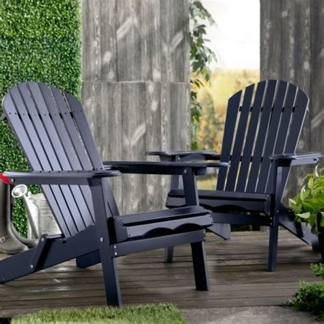 navy blue adirondack chairs set of 2 cape cod foldable adirondack chairs navy blue