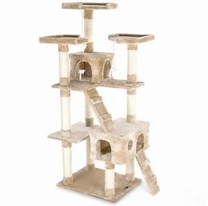 Arbre A Chat Solide : arbre chat happypet avec griffoir et grattoir 182cm ~ Mglfilm.com Idées de Décoration