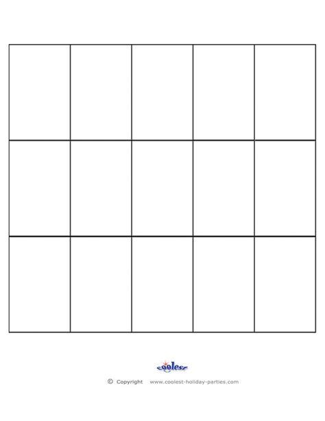 blank bingo call sheet