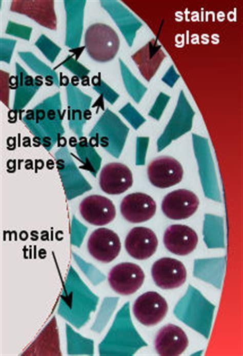 free grape vine mosaic pattern and instructions mosaic mirror