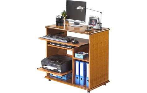 bureaux informatiques bureau informatique complet en bois merisier lyon