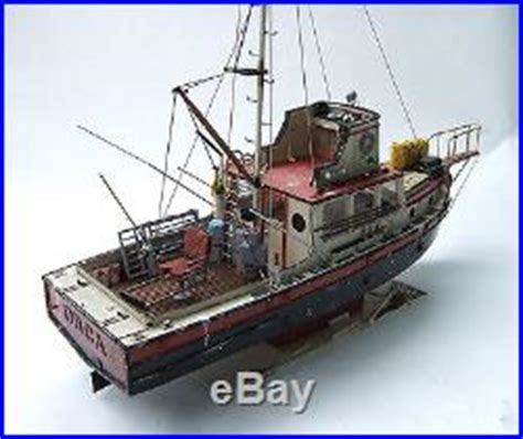 Orca Fishing Boat Plans by Jaws Orca Wooden Model Boat Wood Lobster Fishing Trawler
