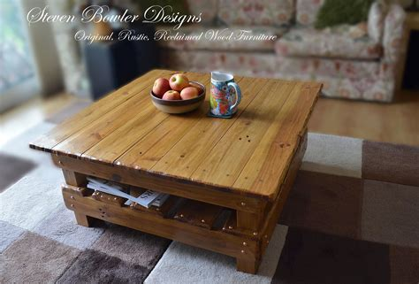 A luxury coffee table with an innovative design that allows for maximum hidden storage. Light Oak Country Cottage Reclaimed Wood Coffee Table With Undershelf Storage 80 cm x 80 cm Can ...