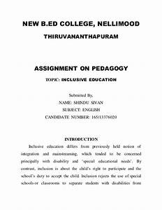 Thesis Example Essay Assignment On Education As A Social Process Gender Stratification Essay Health And Fitness Essay also What Is A Thesis Statement In An Essay Examples Assignment On Education Gay Marriage Essay Outline Assignment On  Essays Written By High School Students