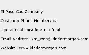 the gas company phone number el paso gas company customer service phone number toll