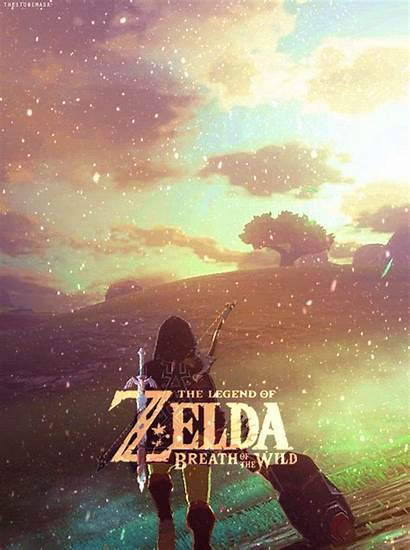 Zelda Breath Wild Legend Link Gifs Fondo