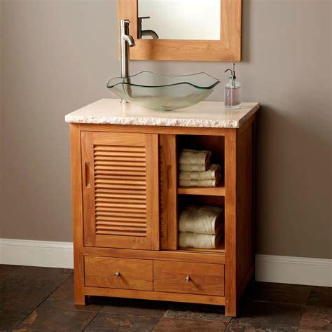 48 inch white bathroom vanities 48 quot arrey teak vessel sink vanity bathroom