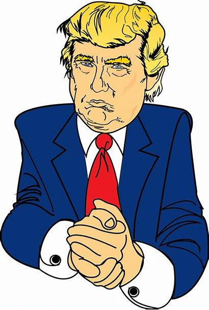 Trump Donald Clipart Serious Clip Transparent Backgrounds
