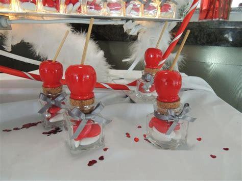 petit pot en verre pour dragees boite 224 drag 233 es en verre avec pomme d amour pour un th 232 me gourmandise contenant 224 dragees