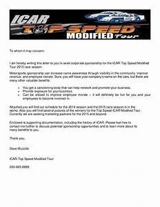 Fundraising Donation Letter Template Race Car Sponsorship Template It Resume Cover Icar