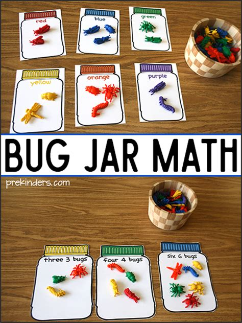 bug jar math printables prekinders 552 | bug jar math printables