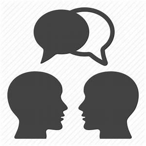 Bald, education, heads, males, social, speech bubble ...