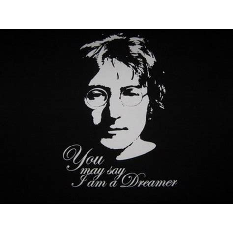 lennon you may say i am a dreamer black t shirt