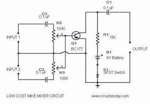low cost mic mixer electronic schematic diagram With wwwcircuitstodaycom