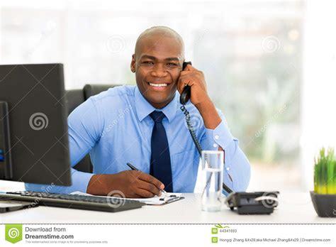 employe de bureau employé de bureau africain photo stock image 44341693