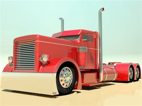 model semi trucks rod semi truck 3d model max obj 3ds fbx cgtrader com