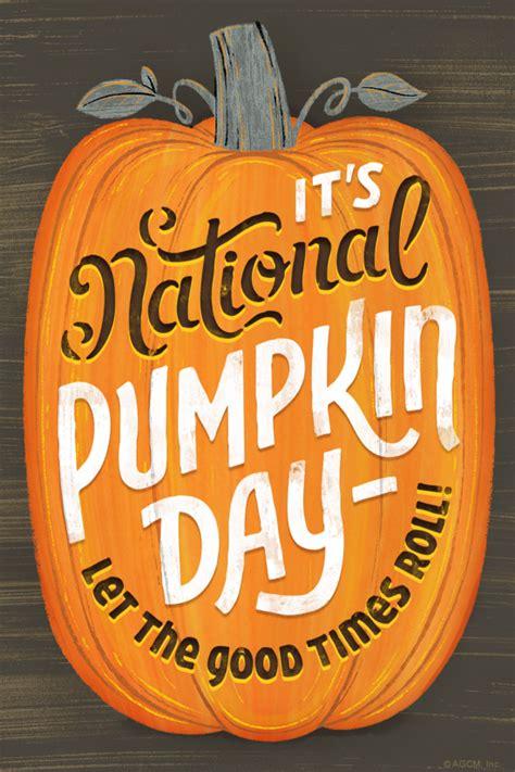 national pumpkin day  october ecard blue
