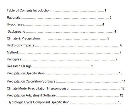 Table Of Contents Template Table Of Contents Template Cyberuse