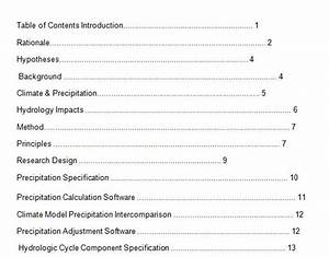 10 best table of contents templates for microsoft word With microsoft office table of contents template