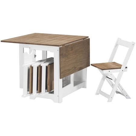 folding kitchen table with chair storage seconique santos butterfly folding dining set in white and 8263