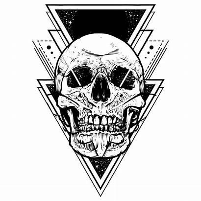 Skull Tattoo Designs Transparent Clipart Cool Geometric