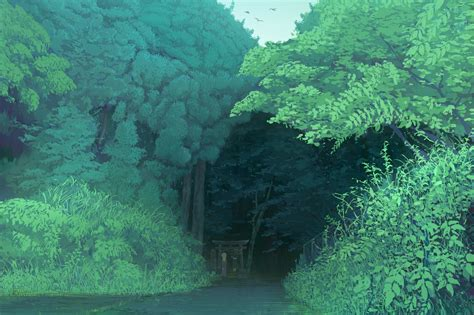 nature landscape forest trees anime wallpapers hd