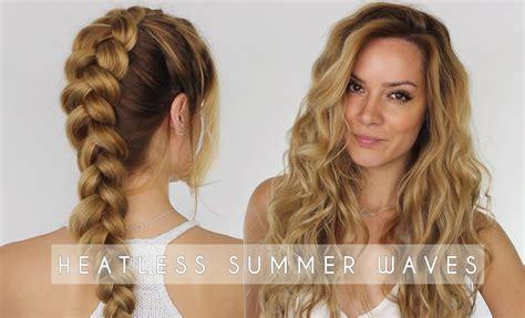 Heatless Summer Waves Hair Tutorial