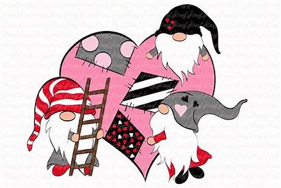 Gnome Clipart Valentine Gnomies Svg Craft Creativemarket